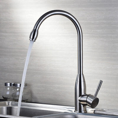 stainless steel outdoor kitchen faucet