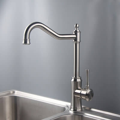 stainless steel single handle kitchen faucets