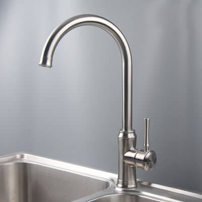 stainless sink faucet