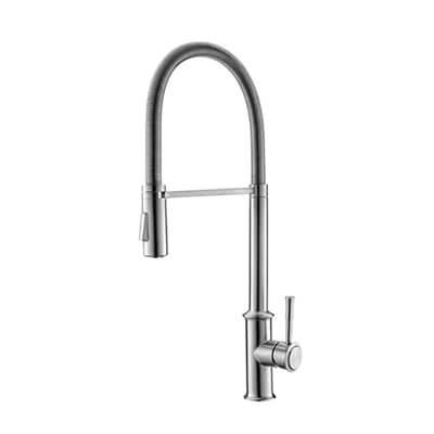 stainless pull down kitchen faucet